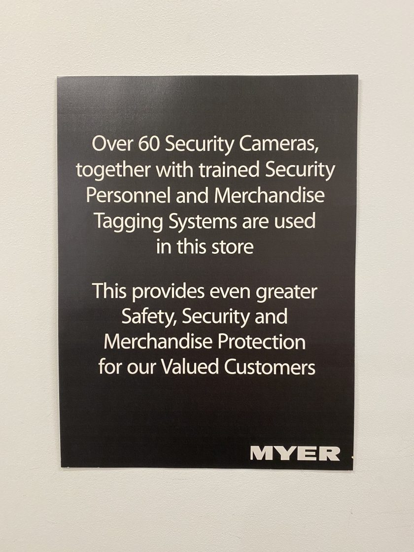 Over 60 Security Cameras, together with trained Security Personnel and Merchandise Tagging Systems are used in this store This provides even greater Safety, Security and Merchandise Protection for our valued customers