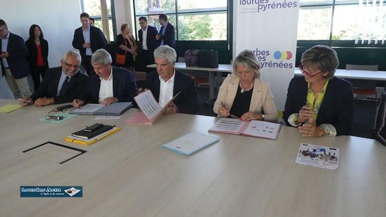 Signature de la Convention Cadre Pluriannuelle «Action Cœur de ville» de Tarbes et Lourdes