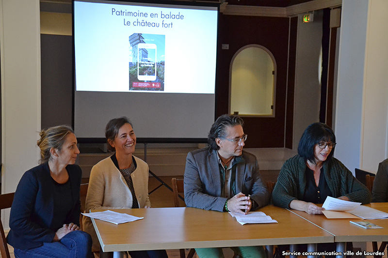 Lourdes : Inauguration du parcours numérique Patrimoine en Balade : «Le Château-fort»