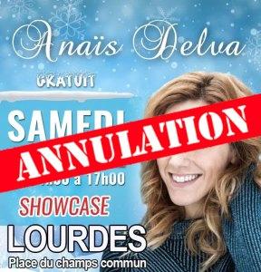 Read more about the article Lourdes : Showcase d'Anaïs Delva annulé et remplacé par un autre programme ! Découvrez le…