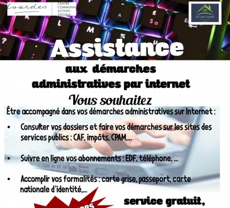 Lourdes : Assistance aux démarches administratives par internet pour les seniors par le Foyer Myriam