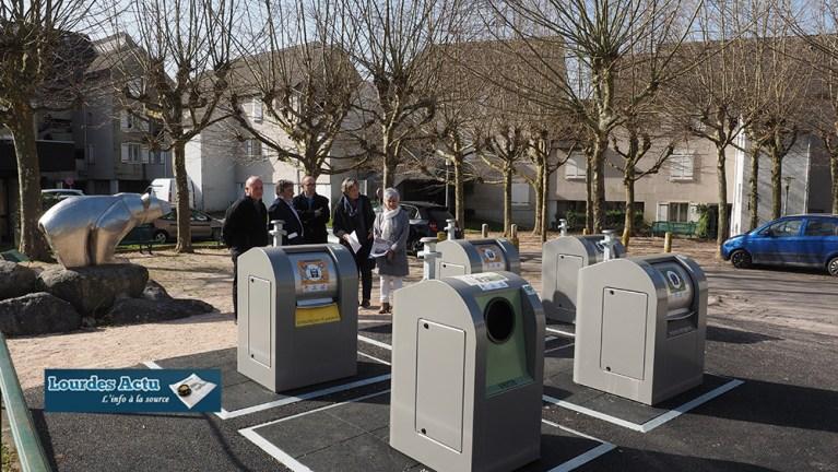 Lourdes : mise en place de containers enterrés par le SYMAT au Turon de Gloire