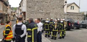 Lourdes : début d'incendie rue du Bourg