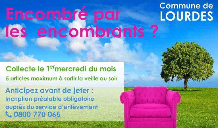 Read more about the article Lourdes : Communiqué de la Ville : changement du jour de collecte des encombrants au mois de mai