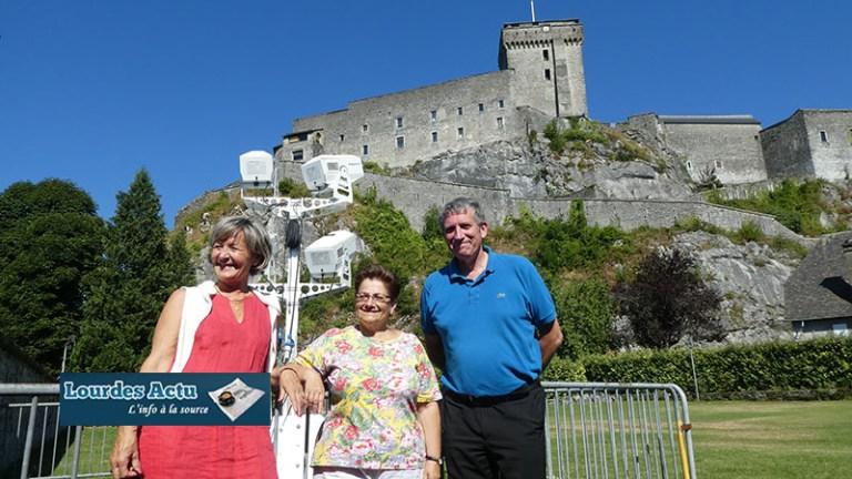 Lourdes : Mapping lumineux sur la façade du Château-fort en l'honneur de « L'Année Bernadette 2019 »