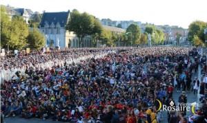 Conférence de presse du Frère Olivier de  Saint-Martin, sur la fréquentation du pèlerinage du Rosaire 2019 qui progresse fortement et sur le programme