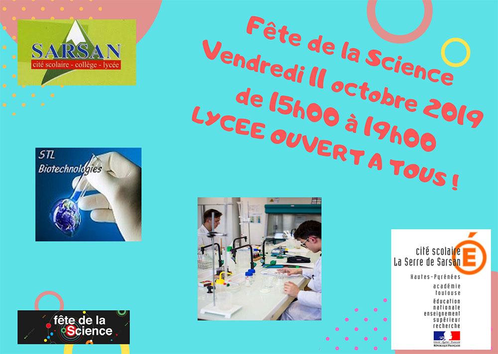 Lourdes : Fête de la science à la Cité scolaire de Sarsan le  vendredi 11 octobre