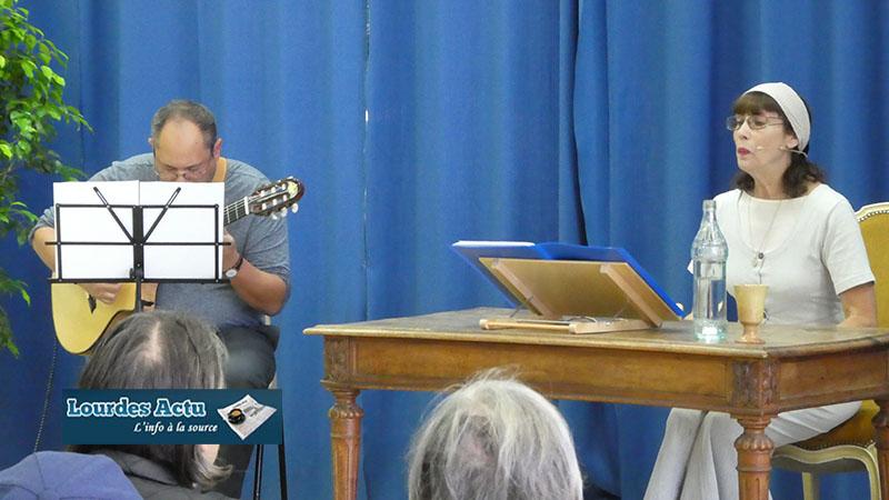 Lourdes : du monde et du talent pour la lecture théâtralisée musicale «Bernadette par elle-même : écrits et paroles de Bernadette, II»