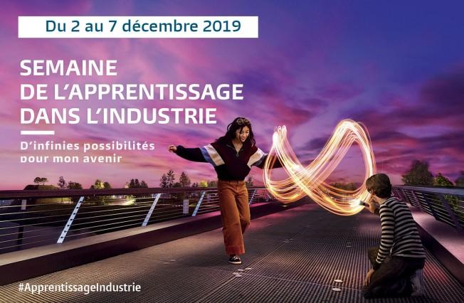 Communiqué de l'UIMM : du 2 au 7 décembre : Semaine de l'apprentissage dans l'industrie 2019