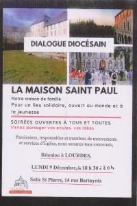 Lourdes : Rencontre-débat sur l'Avenir de la Maison diocésaine St Paul de Tarbes le 9 décembre