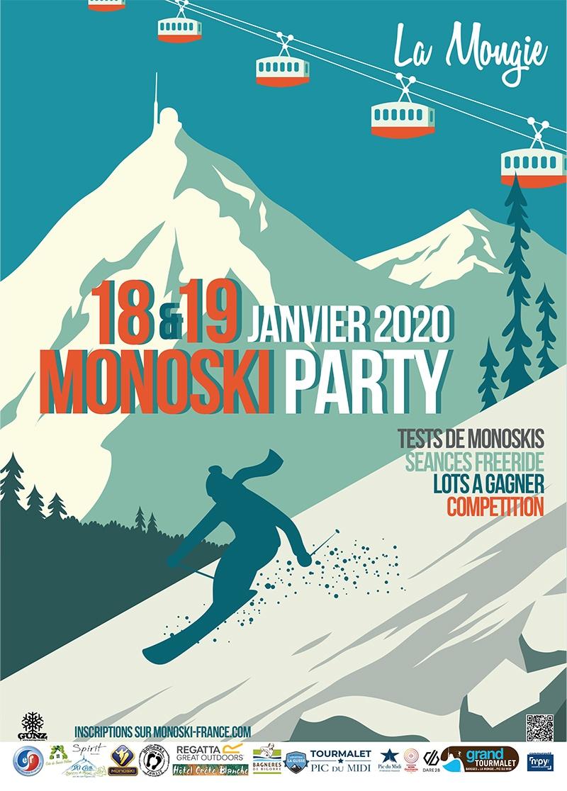 Grand Tourmalet : MONOSKI PARTY les 18 et 19 janvier