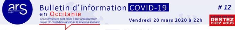 COVID-19 en Occitanie : vendredi 20 mars 2020 à 22h