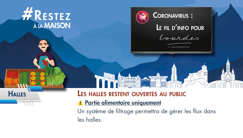 Lourdes : Halles et marché : reprise des marchés extérieurs les jeudis,vendredis et samedis
