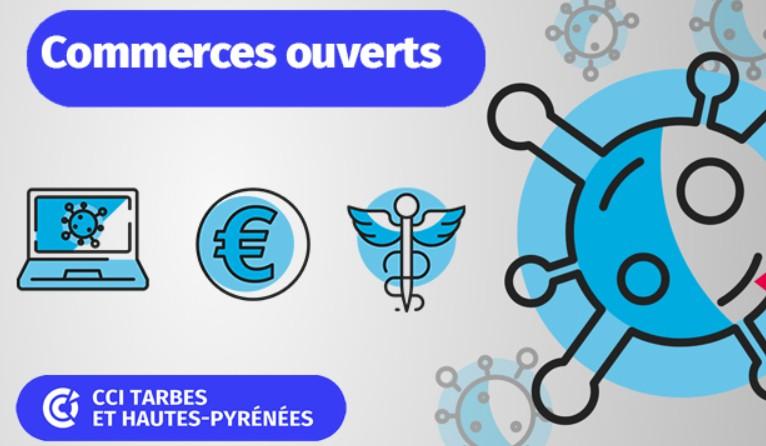 Read more about the article Info CCI : Carte des Commerces ouverts et/ou proposant un service de livraison