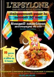 Lourdes : le restaurant «L'Epsylone» vous propose son Rougail saucisses, accompagné de riz (Recette réunionnaise) ce samedi 30 mai