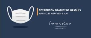 Read more about the article Distribution gratuite de masques aux Lourdaises et aux Lourdais