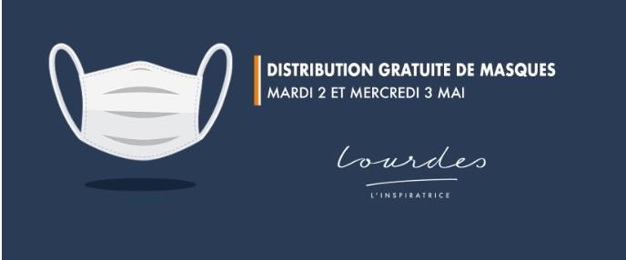 Distribution gratuite de masques aux Lourdaises et aux Lourdais
