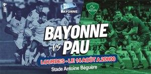 Lourdes : rencontre amicale de rugby entre Bayonne et Pau le 14 août