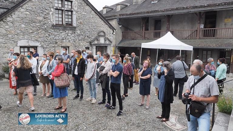 Lourdes : inauguration de l'exposition «Ici commence le chemin des montagnes» au Château-fort