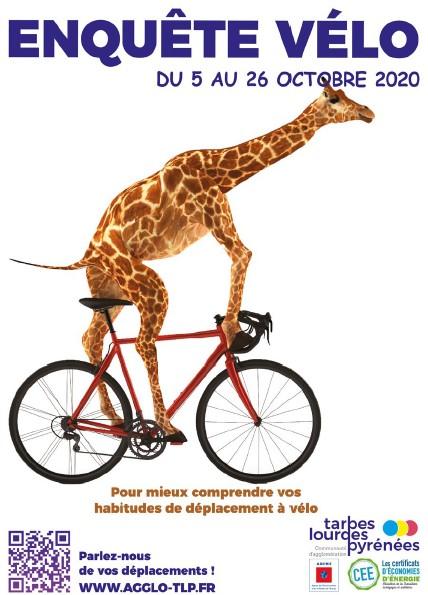 La Communauté d'Agglomération Tarbes Lourdes Pyrénées publie une enquête vélo du 5 au 26 octobre.