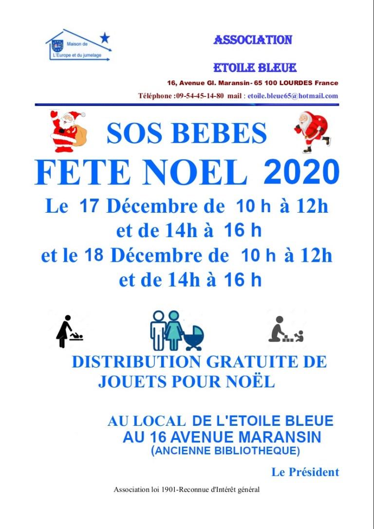 Lourdes : L'Etoile Bleue et SOS BÉBÉS fêtent Noël