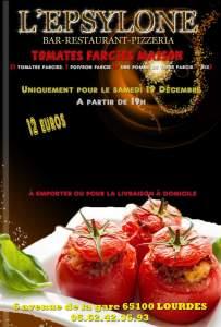 Lourdes : le restaurant « L'Epsylone » vous propose tomates farcies à emporter samedi 19 décembre
