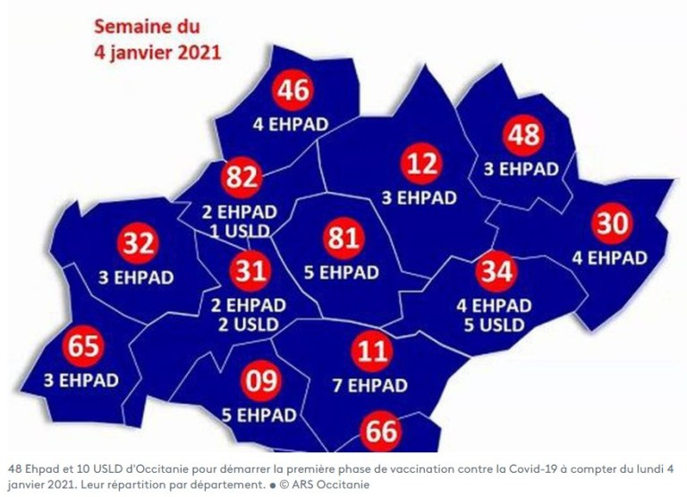Premières phases de vaccination anti-Covid-19 en Occitanie : 61 000 résidents d'Ehpad et 40 000 soignants