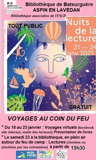 Read more about the article «Nuits de la Lecture» en Vallée de Batsurguère
