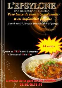 Read more about the article Lourdes : le restaurant «L'Epsylone» vous propose son «Osso Bucco» à emporter les 27 et 28 février