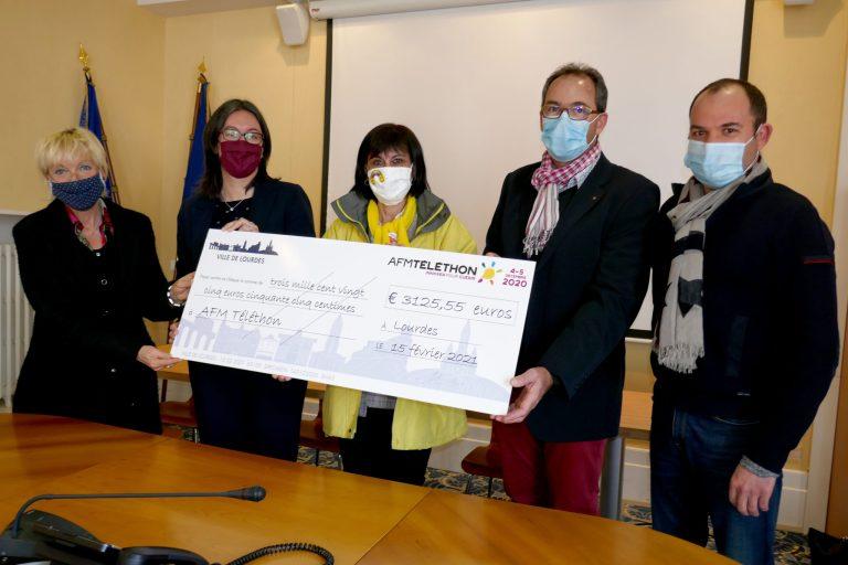 Lourdes : Téléthon 2020, Remise de chèque à l'AFM 65