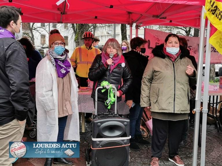 Tarbes : la pluie et le froid n'ont pas fait échec à la manifestation de la Journée internationale des femmes