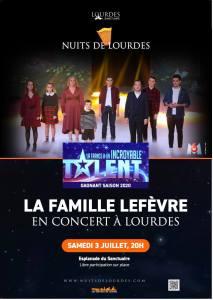 Lourdes : La famille Lefèvre en concert au Sanctuaire le 3 juillet