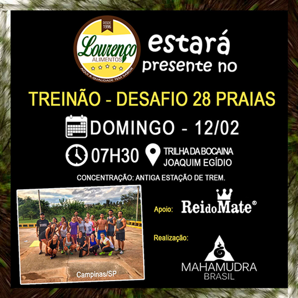 Treinão Mahamudra Brasil - Lourenço Alimentos