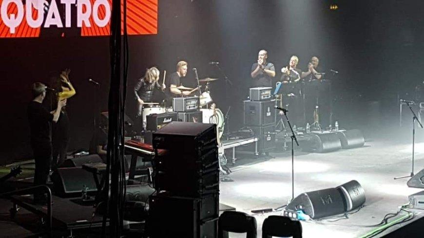 Suzi Quatro takes to the drums