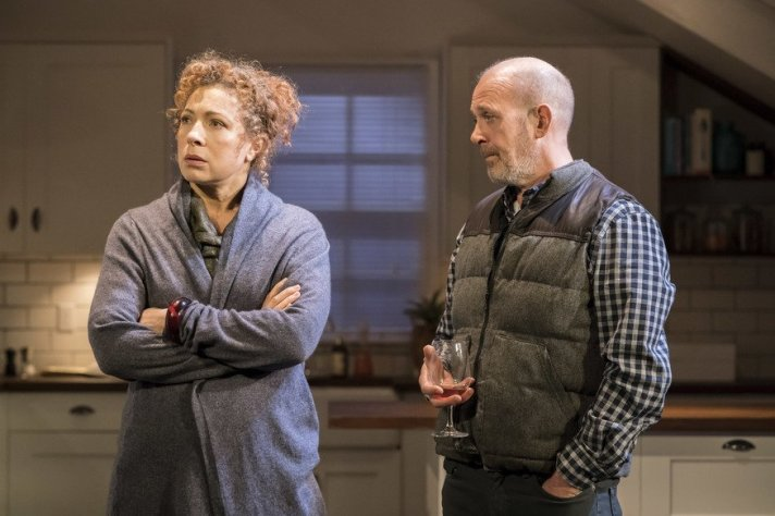 Alex Kingston and Andrew Woodall