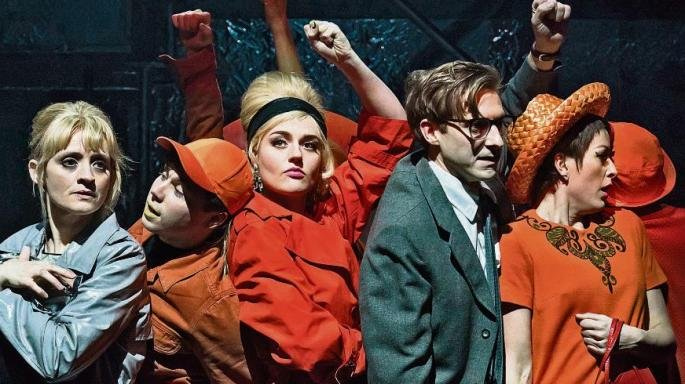 Anne-Marie Duff, Arthur Darvill and company of Sweet Charity. Photo credit Johan Persson.