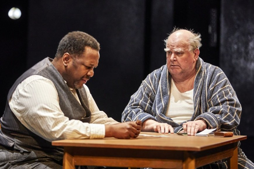 Wendell Pierce and Trevor Cooper in Death of a Salesman