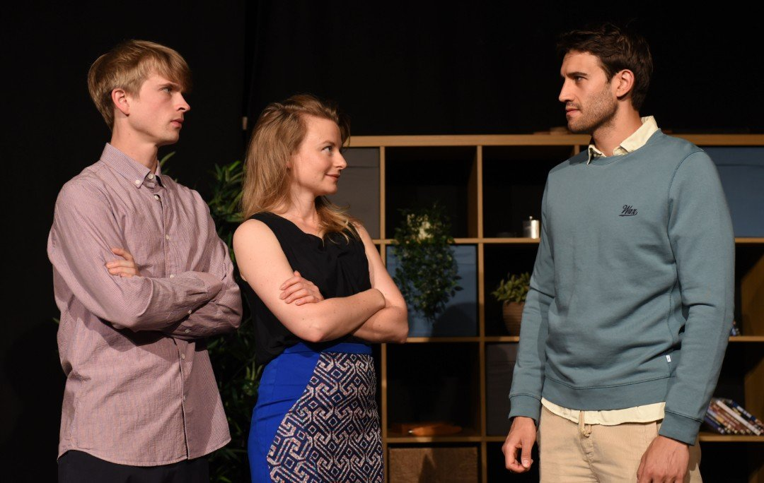 Edward Green, Helen Percival and Kriss Dillon as Miles, Sophie and Ben