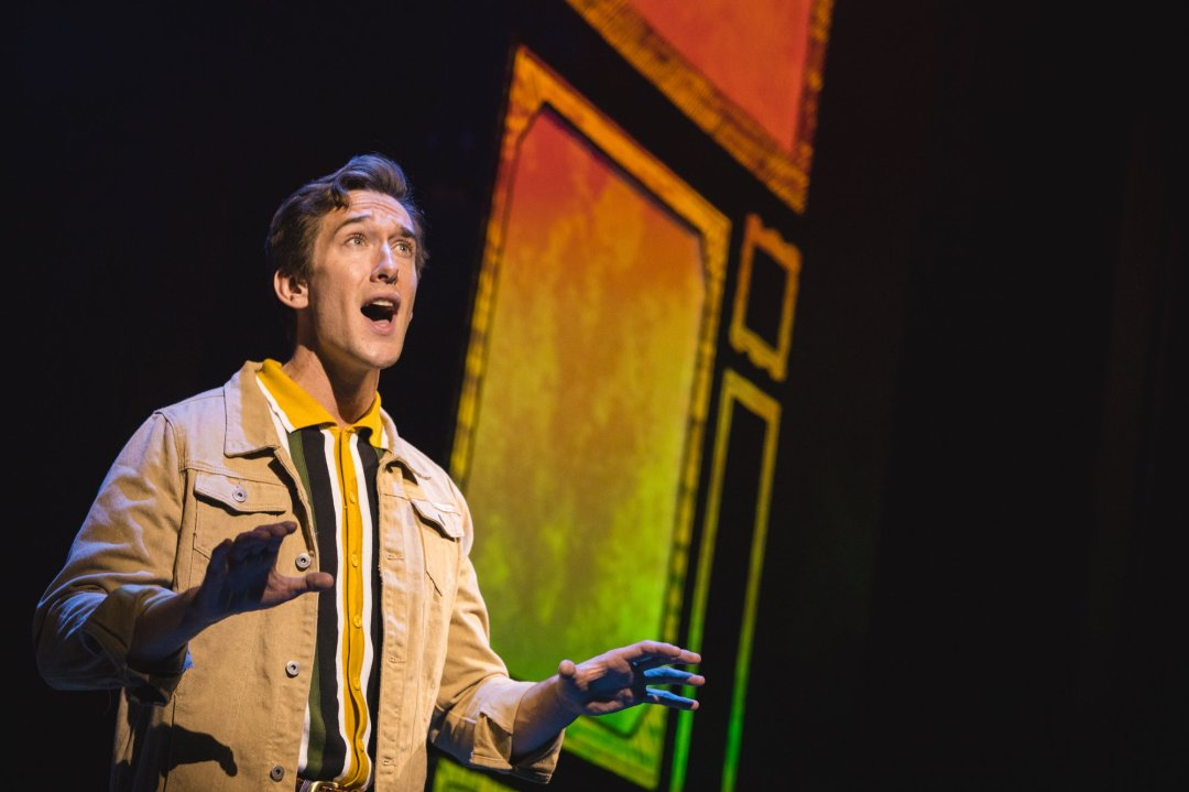 Oliver Savile as Whizzer in Falsettos