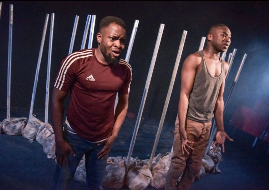 Valentine Olokuga and David Alade in The Fishermen