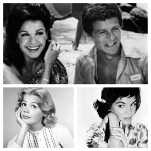 Top, Annette and Frankie, bottom left Sandra Dee, bottom right, Connie Francis