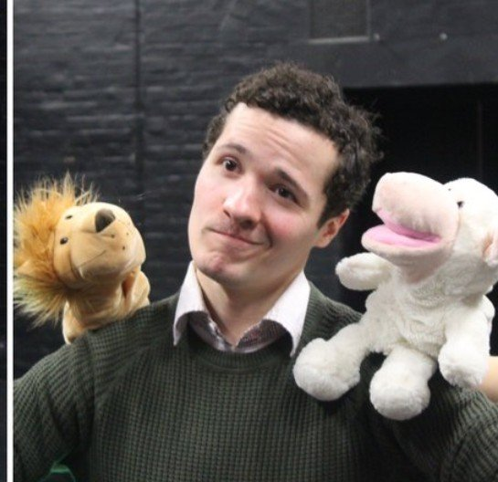 Adam, with Brian the Lion and Sam the Sheep