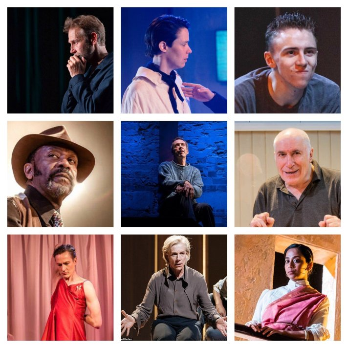 Top row: Richard Cant, Caoilfhionn Dunne, Scott Folan. Middle row: Lenny Henry, Jonathan Hyde, Jack Klaff. Bottom row: Luke Mullins, Juliet Stevenson, Anjana Vasan.