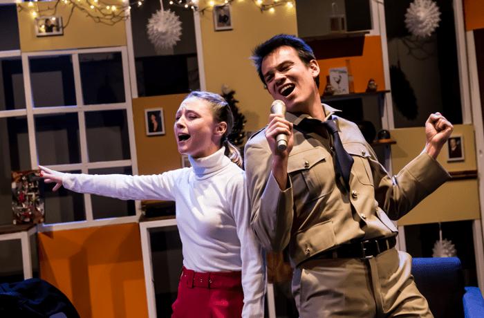 Jessica Forrest and Matt Lim in Martha, Josie and the Chinese Elvis