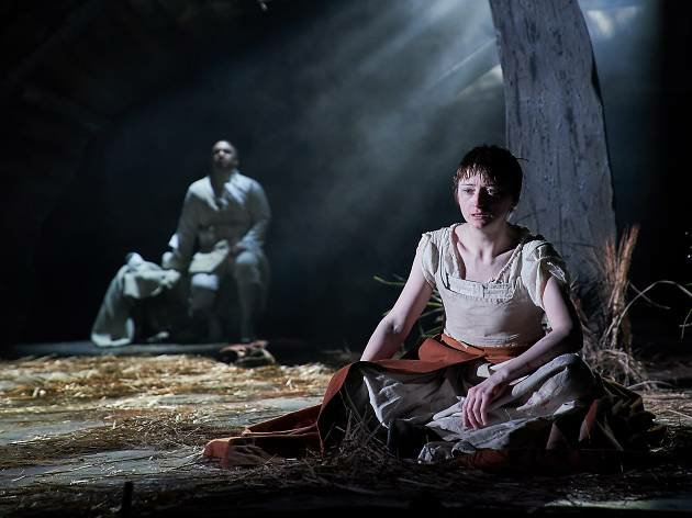 Danny Lee Wynter as Mephistopheles and Jodie McNee as Johanna
