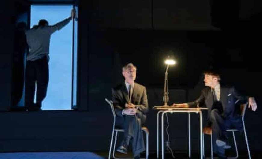Jackson Milner, Alan Cumming, Daniel Radcliffe in Rough For Theatre II