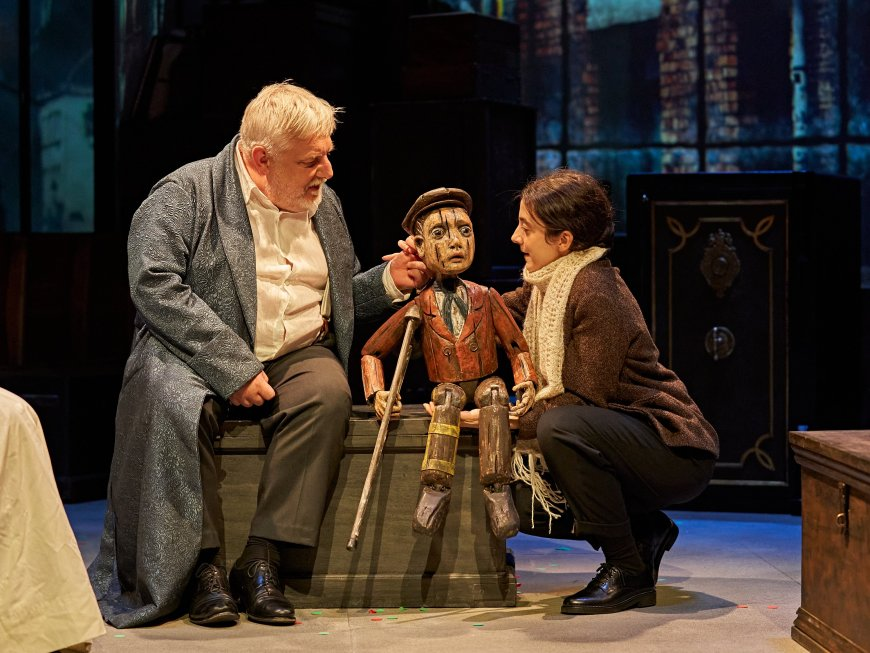 Simon Russell Beale and Patsy Ferran in A Christmas Carol