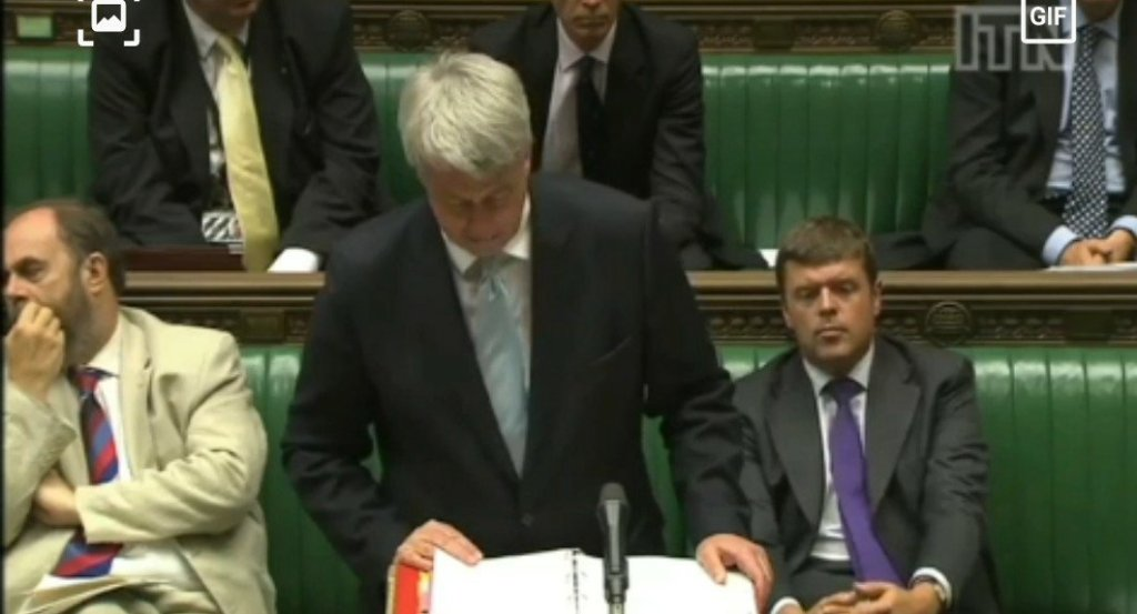 Footage of Andrew Lansley in the House of Commons