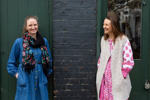 Peta Swindall with Little Angel artistic director Samantha Lane. Image by Ellie Kurttz.