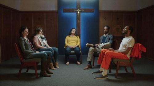 The cast of Testament - Cori Hundt, Jessica Giannone, Desiree Rodriguez, Doron Jepaul Mitchell, and Biko Eisen-Martin